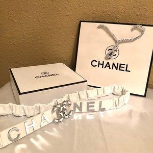 CHANEL Accessories - White Chanel Belt